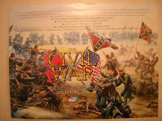 The Civil War The Art of Mort Kunstler Trading Cards Sell Sheet
