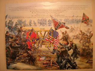 The Civil War The Art of Mort Kunstler Trading Cards Sell Sheet