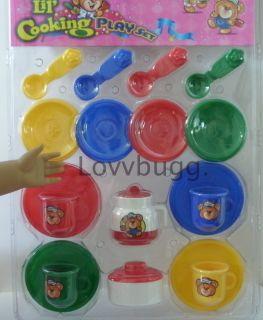 Mini Tea Set Plastic Fits Bitty Baby Doll Most Accessories on The Web