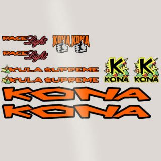 Retro Kona Kula Supreme 1997 Frame Decal Sticker Kit