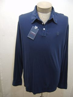 Mens Washed Shir L Daniel Cremieux Polo Golf Long Sleeve Rugby Kni