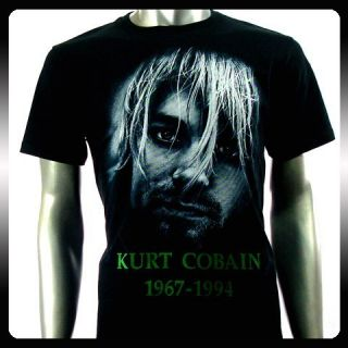 Nirvana Kurt Cobain Rock Punk Music Band T Shirt Sz L NI31