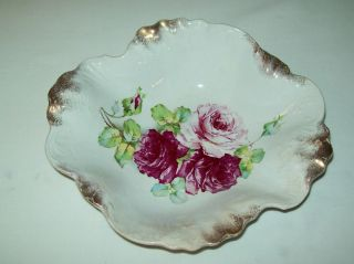 Antique La Belle China Bowl Marked w P by Wheeling Pottery Late 1880S