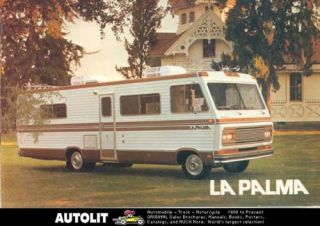 1975 Executive La Palma motorhome RV Brochure