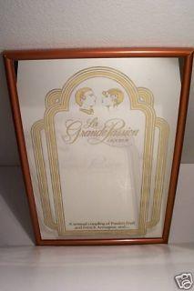 La Grande Passion Wine Liqueur Wood Frame Mirror Sign