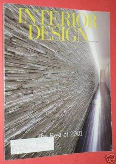 Interior Design Magazine December 2001 House Style Home