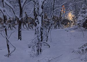 Mort Kunstler Confederate Christmas Civil War Print