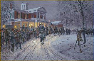 Mort Kunstler Merry Xmas General Lee Collectible Civil War Print
