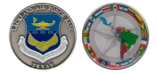 Lackland Air Force Base Inter American Academy Military Challenge Coin