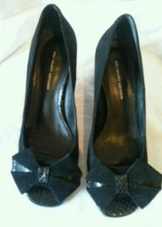 KG Kurt Geiger Black Suede Leather Shoes Size 5