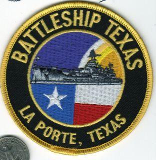 SHIP Patch USS Battleship Texas La Porte Texas Lone Star Flag