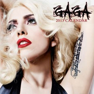 Lady Gaga Calendar 2013 With Free Poster Perfect Pop Music Christmas