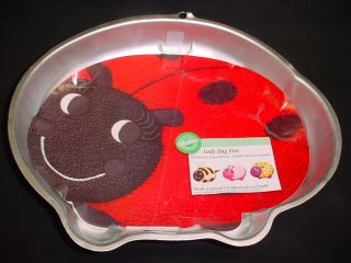 Wilton Big Lady Bug Cake Pan Bee Mold Tin Insert Garden Gardener
