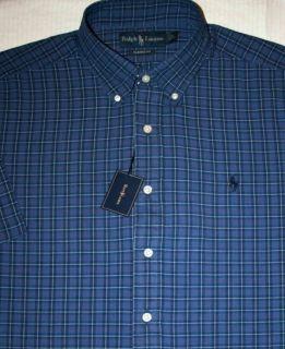 80 Ralph Lauren Mens Large Classic Fit Plaid Shirt Size L