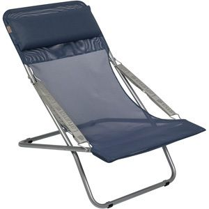 Lafuma Transabed XL Lounge Chair Ocean Blue Batyline Mesh