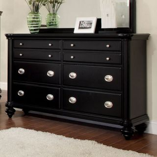 Laguna Hills Solid Wood Black Finish Bedroom Dresser