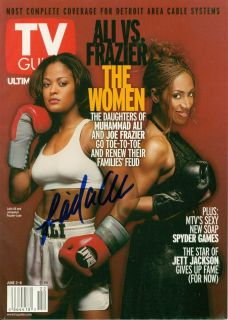 Laila Ali Signed Boxing TV Guide Magazine w COA Muhammad