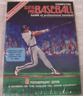 Sports Illustrated Statis Pro Baseball Computer Game Microcomputer