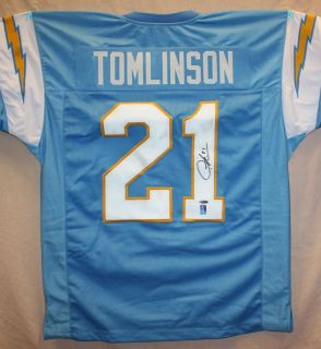 LaDainian Tomlinson Autographed San Diego Chargers Blue Jersey w