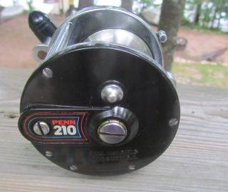 Vintage Penn 210 High Speed Ball Bearing Big Game Fishing Reel