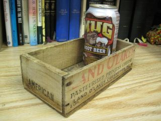 Land O Lakes Wood Wooden American Cheese Box Primitive