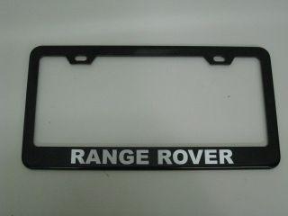 Land Rover Range Rover Black Metal License Plate Frame