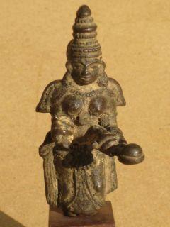 Antique Bronze Statue of Parvati or Lakshmi Hindu India Chola Dynasty