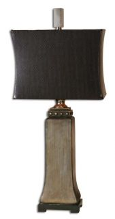 Silver Base Studded Black Snakeskin Shade Table Lamp
