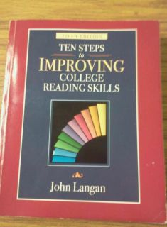 Improving College Reading Skills by John Langan 2003 Paperback