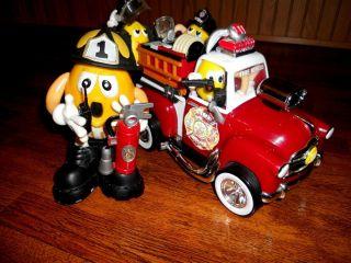 Fire Dept Truck Chief Yellows Rescue Crew None Candy Dispenser