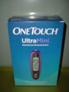 Ultra Mini Glucose Meter Purple Carrying Case Lancing Device 10 Lancet