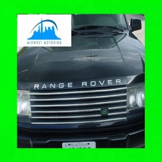 1995 2002 LAND ROVER RANGE ROVER CHROME TRIM FOR UPPER GRILL GRILLE