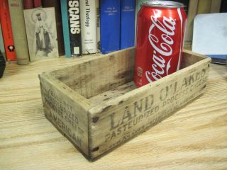 Land O Lakes Wood Wooden American Cheese Box Primitive JMJ