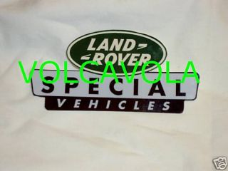 Land Rover Special Vehicles Rally Decal Sticker