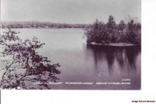 RPPC White Cloud MI 1943 Loves Resort Diamond Lake Gem