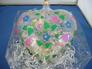Glass Heart, Clear With Assorted Colors.LandmarkCreationsClear Box 7x7