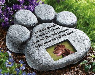 Unique Paw Print Pet Memorial Yard Garden Stone New