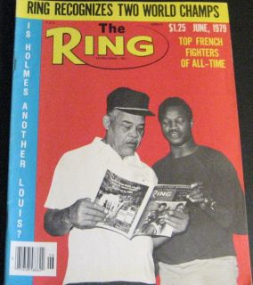 The Ring Magazine June 1979 Larry Holmes Joe Louis