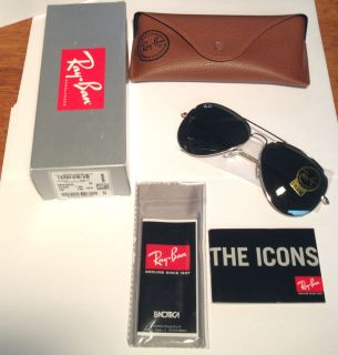Ray Ban RB 3025 Aviator Large Metal Sunglasses