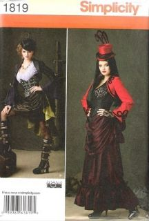 Steampunk Goth corset skirt jacket Costume pattern s14 22 LaQuey