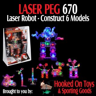 Laser Pegs 670 Robot Light Up Building Toy Construction Kit
