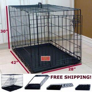 42 Majestic Pet Single Door Folding Dog Crate Large