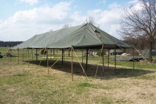 MILITARY TENT GP LARGE ROOF ONLY CANOPY HUNTING ARMY SURPLUS 17x54