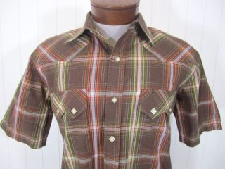 Mens Larry Mahan M Med Western Shirt Pearl Snap 1793