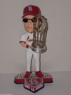 TONY LARUSSA St Louis Cardinals Bobble Head 2011 World Series Champs