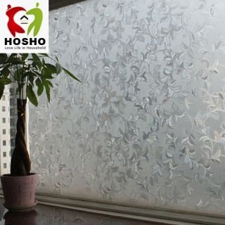 Decorative Privacy 3D Laser Static Glass Window Film Herba Pteris 35