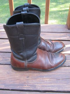MENS LAREDO PULL ON WORK MOTORCYCLE BOOTS SIZE 9 1 2 D GREAT SHAPE