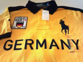 Ralph Lauren Germany Polo Rugby Shirt L New Custom Fit Big Pony Large