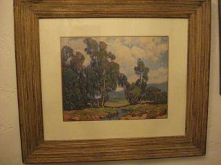 Vintage Paul Lauritz Calfornia Landscape Litho