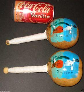 Gourd Maracas Mexican Folk Art Mexico Music Percussion Instrument Kids
